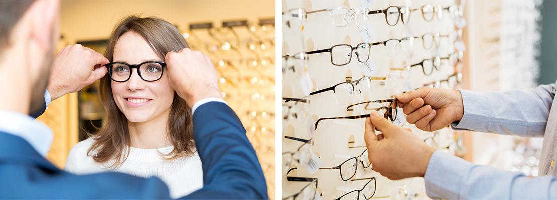 L'opticien et sa cliente