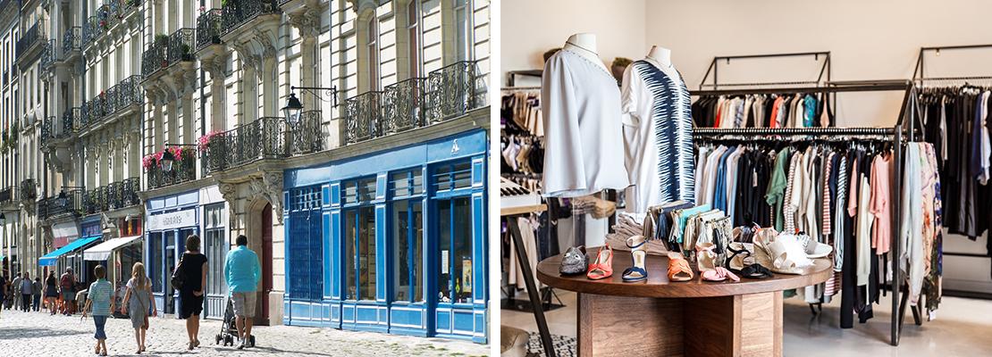 Commerces centre-ville Nantes