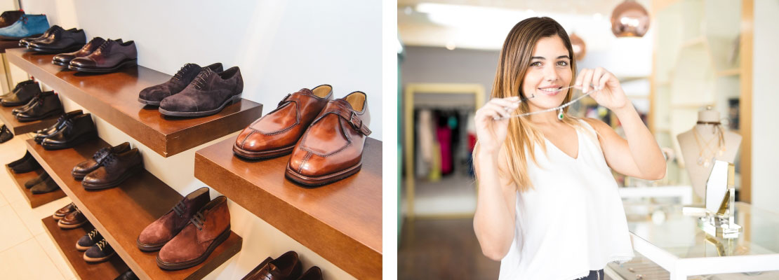 Vendeuse mode bijouterie maroquinerie chaussures